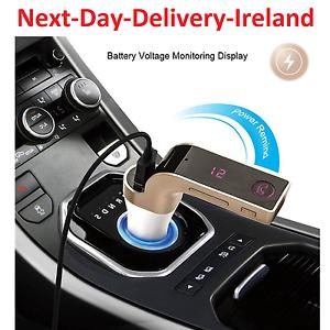 Bluetooth Car Kit Handsfree FM Transmitter Radio MP3 Player USB Charger /& AUX