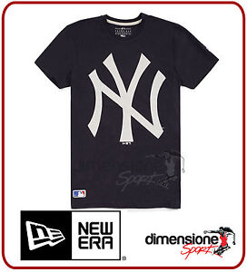 T-SHIRT-NEW-ERA-MAGLIETTA-NY-NEW-YORK-YANKEES-MLB-BLU-UOMO-TG-XS-MAN-LOGO-TEE