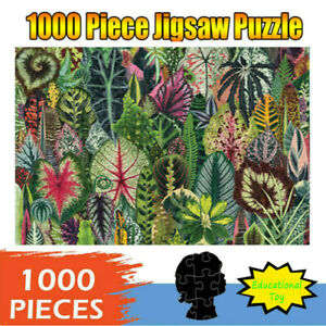 1000-Piece-Adult-Children-Jigsaw-Puzzles-Plant-Leaves-Pattern-Educational-Toys