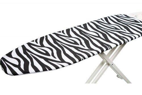 Bügelbrettbezug Bügeltischbezug 122x38 cm Baumwolle Schwarz Weiß