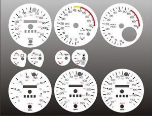 1982-1989 Chevrolet Camaro Dash Instrument Cluster White Face Gauges 82-89