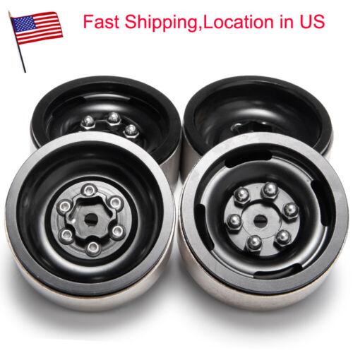 4X Heavy Duty 1.9inch Metal Beadlock Wheel Rims For Axial SCX10 1//10 RC Car US