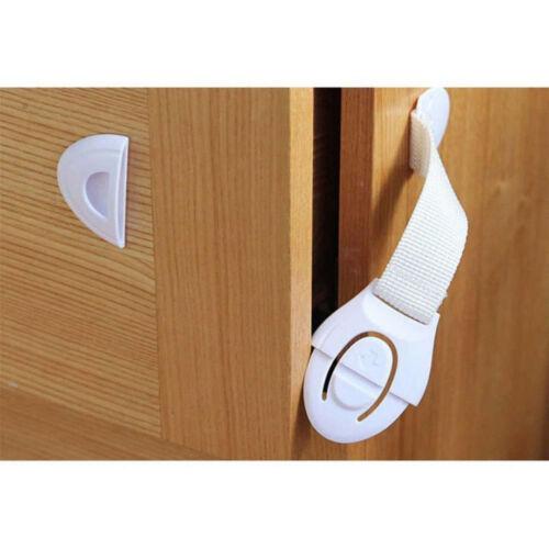 10 Pcs Child Infant Baby Kids Drawer Door Cabinet Cupboard Toddler Safety Locks