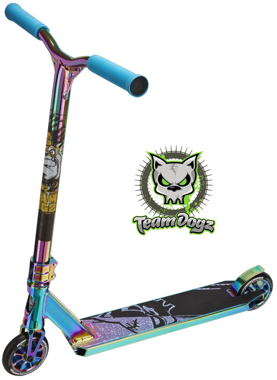 Team Dogz Pro X Ultimate Trougeinette Neo Chrome Rainbow Enfants Pousseur