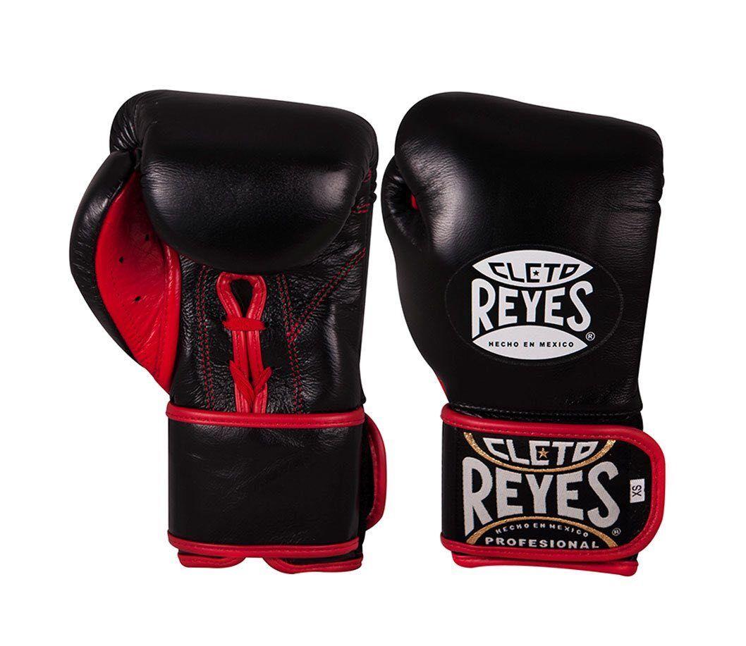Cleto Reyes Universale Sparring Guantoni Box Nero Ibrida Velcro Ganti in Pizzo