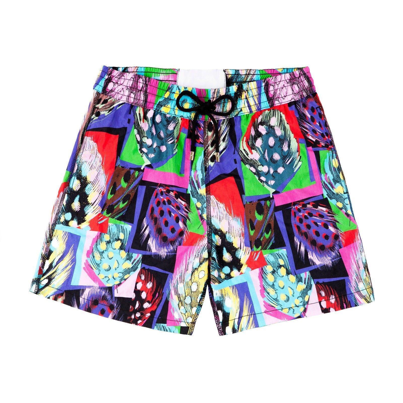 Billionaire Couture Men's Patterned Swimming Shorts Short Length, size S, L
