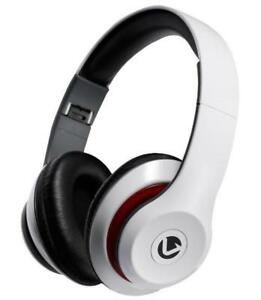 Falcon Over-Ear Stereo Headphones with Microphone, White - VOLKANO