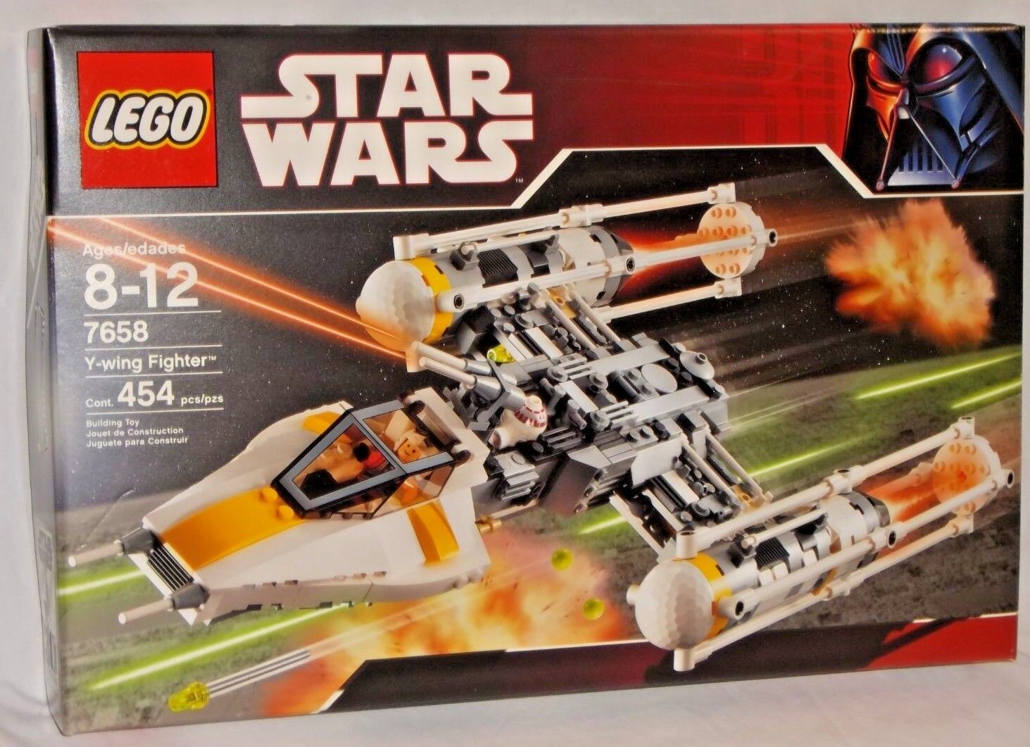 SEALED 7658 LEGO Star Wars Y-WING FIGHTER Space Vehicle Pilot Droid 454 pc Set