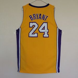 5dc2674a92c Kobe Bryant Los Angeles Lakers Jersey Size 52 Gold Adidas NBA  24 LA ...