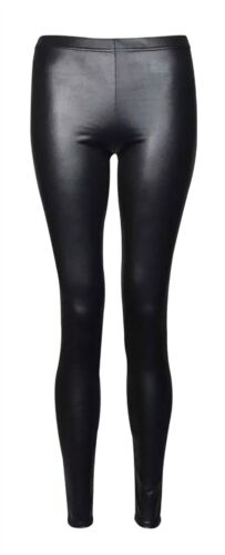 Womens Faux Leather High Waist Wet Look Legging Ladies Fancy Shiny Stretch Pants