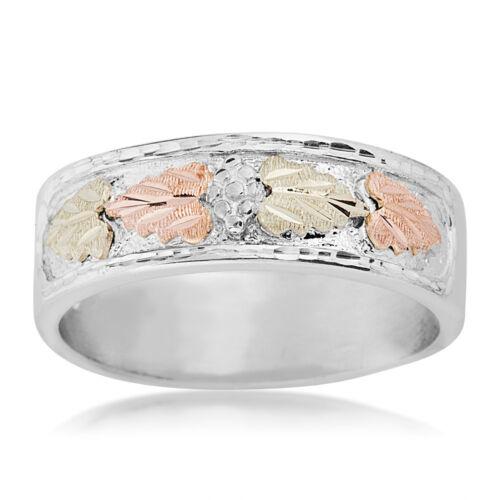 Black Hills Gold wedding band ring mens .925 silver whl//half size 9 10 11 12 13