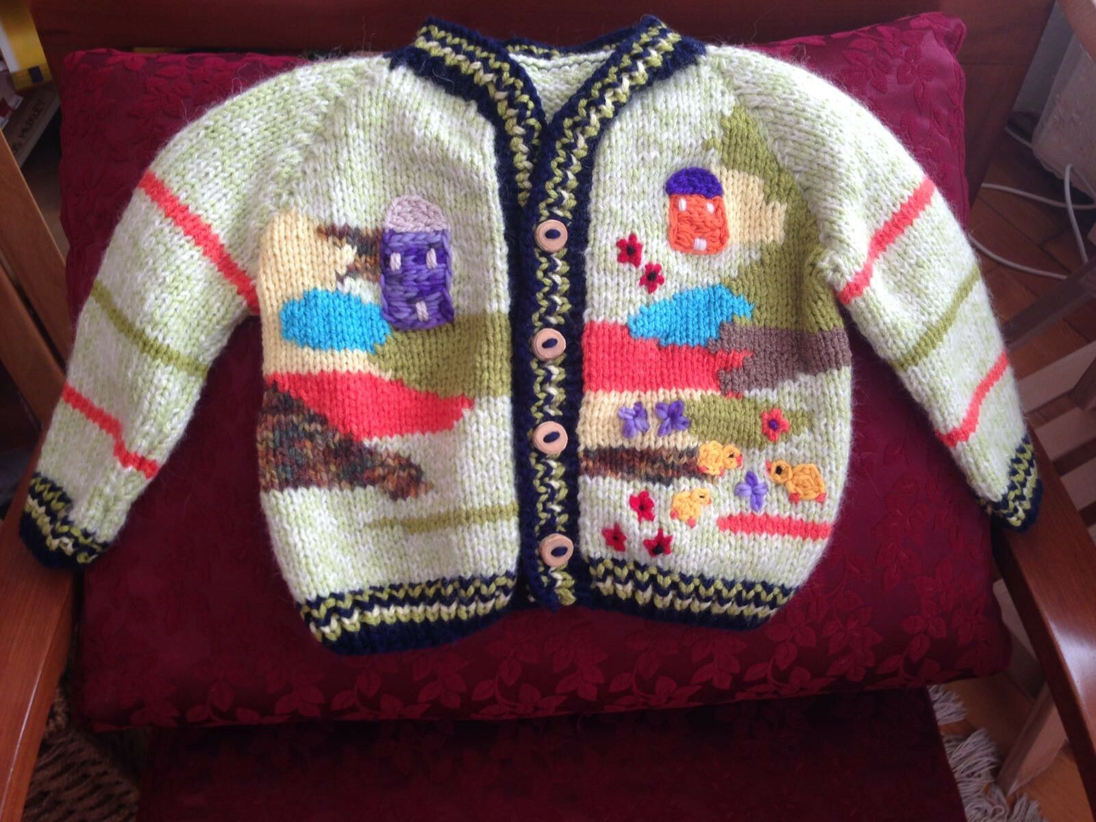 Handmade Wool Sweater For Kids (with characters from fairy tales and stories)