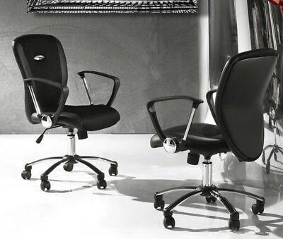 Design sedia poltrona Palermo ufficio con rotelle ecopelle 40x61x114-125cm verde
