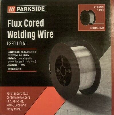 Parkside Flux Cored Welding Wire 1.0mm Length 100m 0.45kg BUY 3 GET 1 FREE Lidl