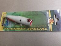 Custom Painted Bass Pro Shops Tourney Special Pop N Splash Popper,ri Bone