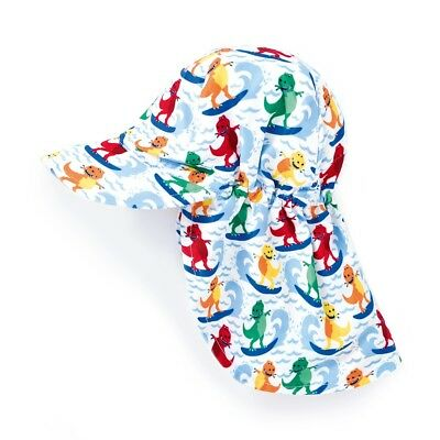 Jojo Maman Bebe Kids Baby Unisex Dinosaur Flap Sun Hat D2108