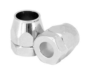 """Vacuum Line End Covers Chrome Aluminum 2-Piece for 7/32"""" I.D. Hose"""