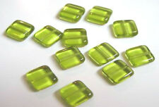 10 Clear Chicklet Square Glass Beads 8MM