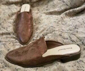 Pierre-Dumas-Wallis-Shoes-Metallic-Brown-Slip-Ons-Slides-Flats-Women-Size-7M-NEW