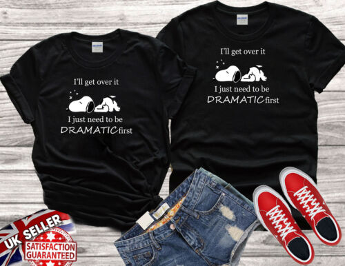 Snoopy Dramatic Quotes I/'ll Get Over It Men Women Unisex T-shirt Vest Top V140