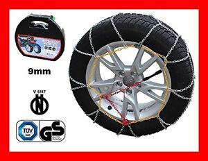 CATENE DA NEVE PER AUTO OMOLOGATE 9 MM MISURA PNEUMATICO 265/35 R19