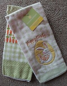 Details About Easter Kitchen Towels Blossoms Blooms Kohls Set Of 2 Towels Brand New W Tags