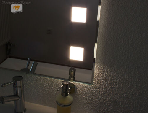 Forte Cube II Bathroom Wall Crystal Mirror Illuminated Howe LED 140 x 60 cm