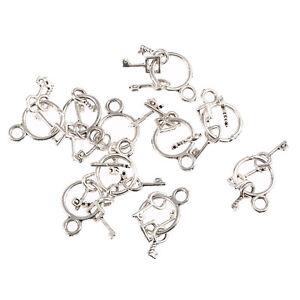 ring-of-keys-jailers-key-ring-Tibetan-Silver-Bead-charms-Pendants-10pcs-25-12mm