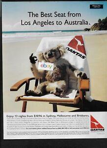 QANTAS AIRWAYS AUSTRALIA KOALA BEAR WITH BEST SEAT FROM
