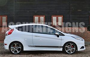 Side Stripes Graphics To Fit Ford Fiesta Pair Car Decals Stickers