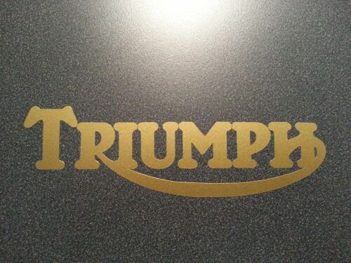 TRIUMPH DECAL GOLD *** MOTORCYCLE ** HARLEY ** NORTON ** BMW ** INDIAN ** BSA