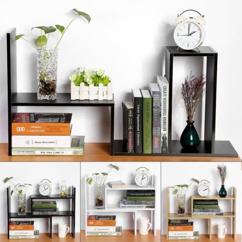 Sturdy Board Table Desktop Storage Rack Display Shelf Organizer Counter Bookcase