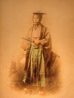 Reprint 7x5 inch Samurai Warrior 19th Century Photo Japan