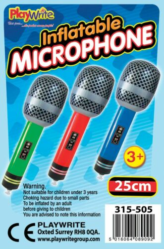 12 Gonflable Microphones 25 cm