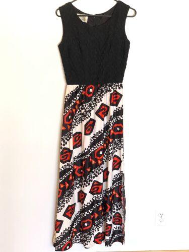 Vtg 1960s Parade New York Knit Dress  Geometric Se