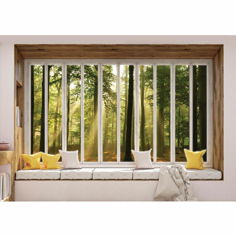 Fototapete Laubwald Sonne Sonnenstrahlen Fenster Laub liwwing no. 3435