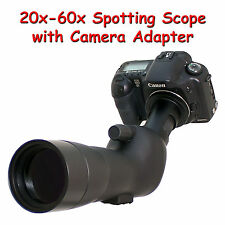20-60x 60a 2000mm 6000mm Telescope for Canon Rebel EOS XTi XT 20D Digiscoping