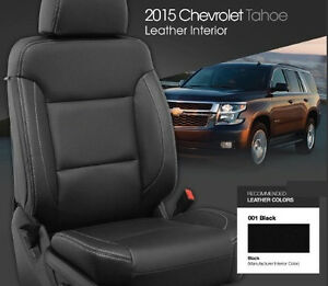 chev suburban tahoe yukon xl 2016 2018 leather interior kit factory