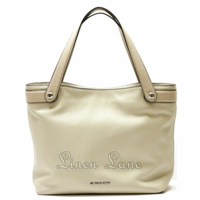 8327520c7ae4 MICHAEL KORS Hyland Convertible TOTE Cement Gray PURSE Leather Medium NWT  $328