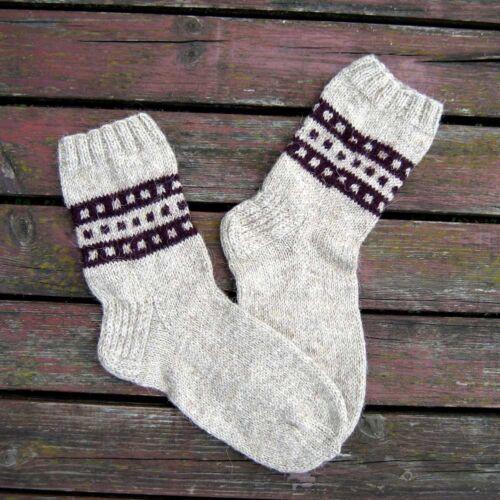 Russe Homme Laine Chaussettes Tricoté à la main handmade #15