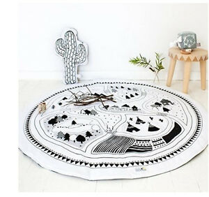 Soft-Cotton-Baby-Kids-Game-Gym-Activity-Play-Mat-Crawling-Blanket-Floor-Rug-SP