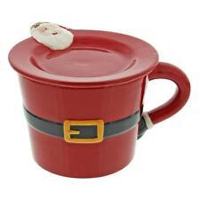 Novelty Christmas Santa Belt Design Mug & Cookie Plate