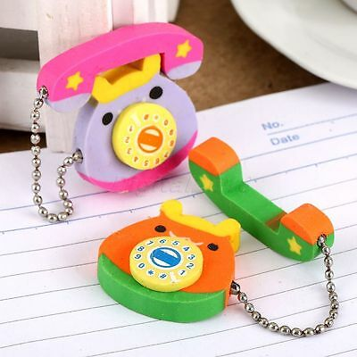 Kawaii Phone Call Rubber Pencil Erase Eraser Stationery Stationary Kid Toy Gift