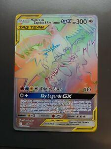 Zapdos Moltres Articuno Tag Team Hidden Fates Full Art Rainbow Rare Pokémon