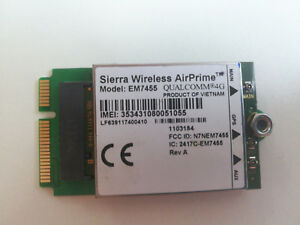 Details about Sierra Wireless EM7455 with PCI-E adapter Same as MC7455  Generic Ver