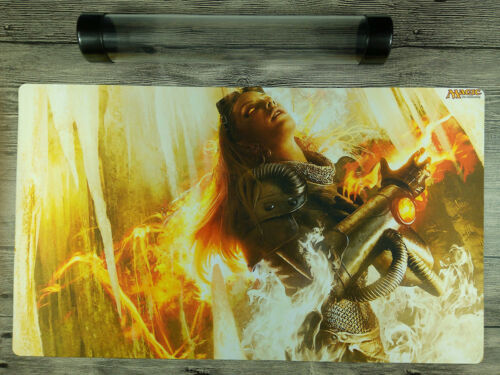 Magic the Gathering The Purifying Fire Playmat Custom MTG TCG Mat Free Best Tube
