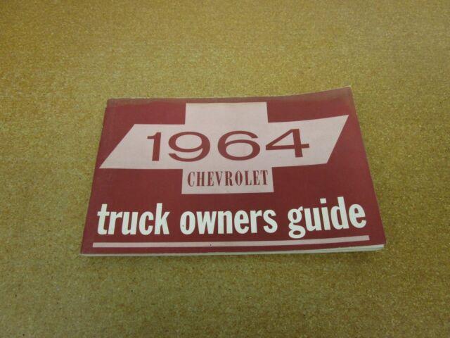 1964 Chevrolet Chevy Pickup Truck C  K K10 K20 C10 Owners
