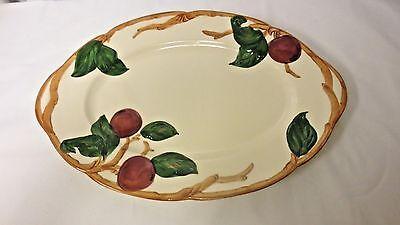 """Older Franciscan USA Apple Handled 12 1/2"""" Platter Serving Tray"""