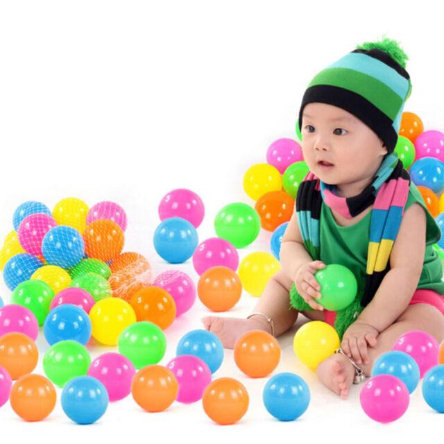 10Pcs 70mm Colorful Ball Fun Ball Soft Plastic Ocean Ball Baby Kid Toy Swim Js
