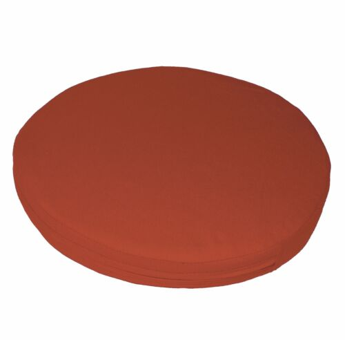 aa187r Reddish Brown Cotton Canvas 3D Round Shape Seat Cushion Cover Custom Size